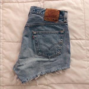 Vintage Levi's high-waisted denim shorts